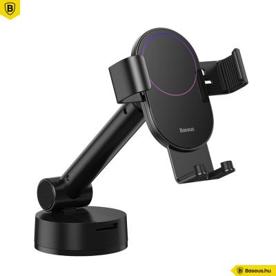Baseus Simplism gravitációs, teleszkópos autós telefontartó műszerfalra - Fekete