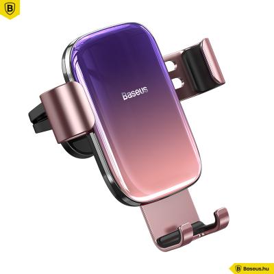 Baseus Glaze autós telefontartó szellőzőrácsra - Rózsaszín