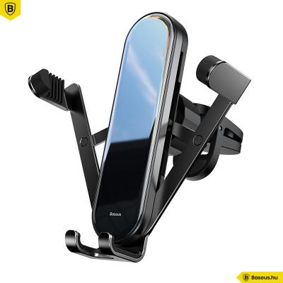 Baseus Penguin gravitációs telefontartó szellőzőrácsra - Fekete