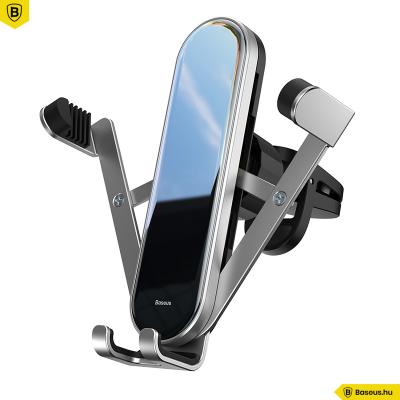 Baseus Penguin gravitációs telefontartó szellőzőrácsra - Ezüst