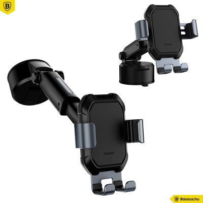 Baseus Tank gavitációs telefontartó műszerfalra vagy szélvédőre - Fekete