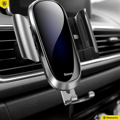 Baseus Future autós telefontartó szellőzőrácsra - Ezüst