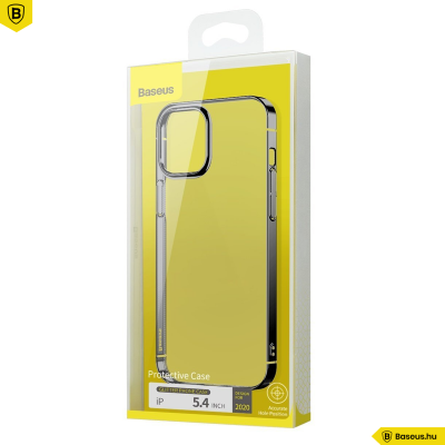 Baseus iPhone 12 Mini tok Glitter - Fekete