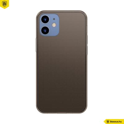 Baseus iPhone 12 Mini matt üveg tok - Fekete