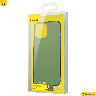 Baseus iPhone 12 Mini matt üveg tok - Zöld
