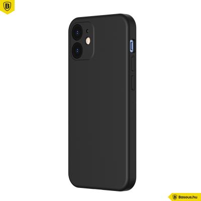 Baseus iPhone 12 Mini rugalmas gél tok  - Fekete