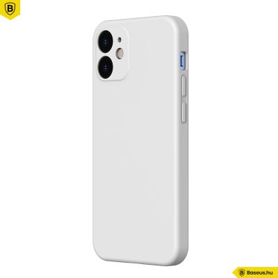 Baseus iPhone 12 rugalmas gél tok  - Fehér