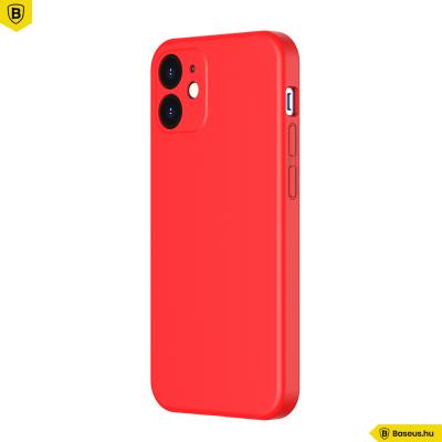 Baseus iPhone 12 rugalmas gél tok  - Piros
