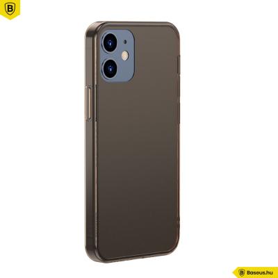 Baseus iPhone 12/12 Pro matt üveg tok - Fekete