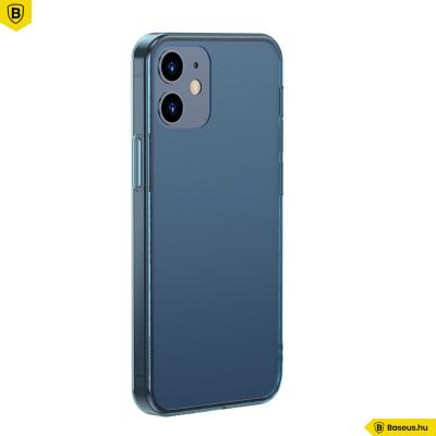 Baseus iPhone 12/12 Pro matt üveg tok - Kék