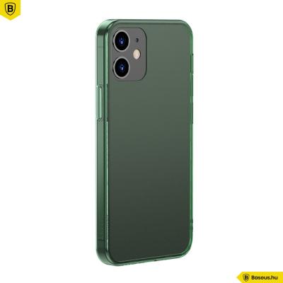 Baseus iPhone 12/12 Pro matt üveg tok - Zöld
