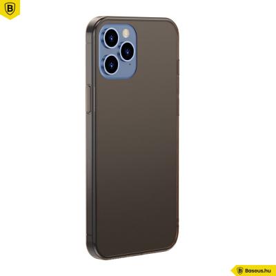 Baseus iPhone 12 Pro Max matt üveg tok - Fekete