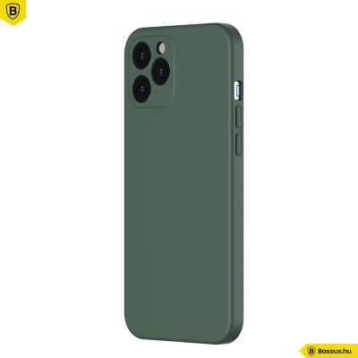 Baseus iPhone 12 Pro Max rugalmas gél tok  - Sötétzöld