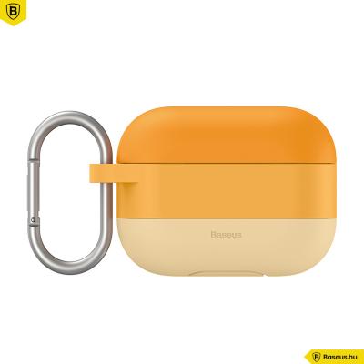 Baseus szilikon védőtok Apple AirPods Pro + horog - Narancs