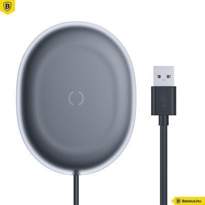 Baseus Jelly Qi 15W vezeték nélküli töltő USB-C kábellel - Fekete