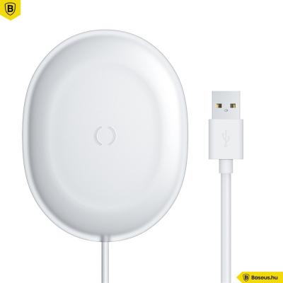 Baseus Jelly Qi 15W vezeték nélküli töltő USB-C kábellel - Fehér