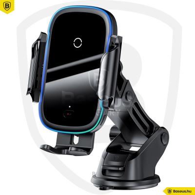 Baseus Light automata telefontartó és töltő szellőzőrácsra - Fekete