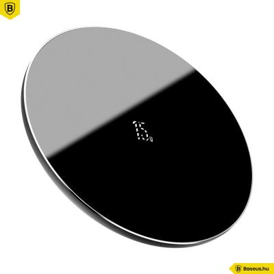 Baseus vezeték nélküli gyors töltő (frissített verzió) Qi 15W - Fekete