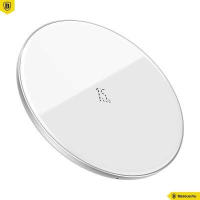 Baseus vezeték nélküli gyors töltő (frissített verzió) Qi 15W - Fehér
