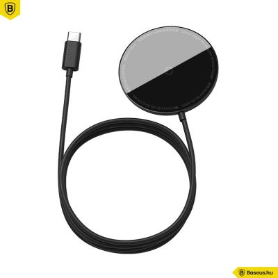 Baseus Simple MagSafe mágneses vezeték nélküli töltő 15W iPhone 12 szériához - fekete