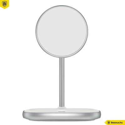 Baseus Swan MagSafe mágneses állvány, vezeték nélküli töltővel iPhone 12 / mini, Pro, Pro max - fehér