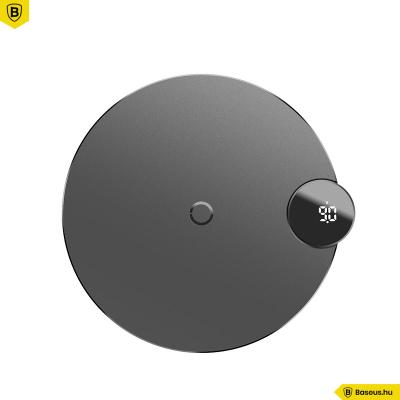 Baseus Digitál LED kijelzős vezeték nélküli wireless gyorstöltő - Fekete