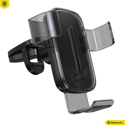 Baseus Explore gravitációs telefontartó vezeték nélküli töltéssel 15W - Fekete